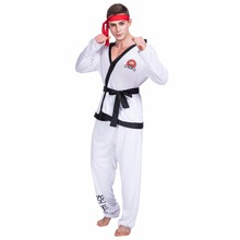 Men Karate Kardined On Kargot Kung Fu Fighter Cosplay Halloween Costume Carnival Christmas Clothes Clothing Adult Male Costumes(China)