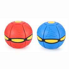 5PCS UFO Ball Step Ball Vent Ball Frisbee Ball Toy Deformation Outdoor Toys Children's Fun Christmas Gift Blue and Red Random