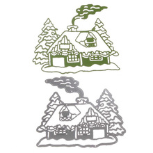 1pcTop sale Metal Steel Santa Claus Cutting Dies Stencil DIY Scrapbooking Album of Santa Claus Chimney house decorate
