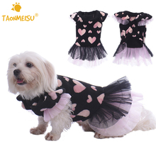 Pet Dog Clothes Dresses Skirts Puppy Kitten Dating Costumes Party dress Princess Hearts Apparel Lace Clothes for Doggy Kitty