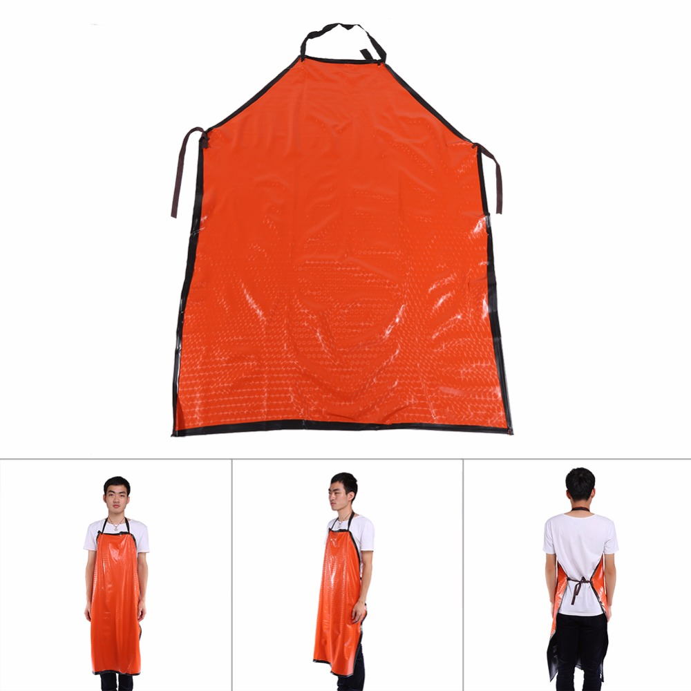 Adjustable Heavy-duty Black Waterproof PVC Apron Extra Long For Kitchen Butcher Cooking Cartering Unisex Sleeveless Cooking Work(China (Mainland))
