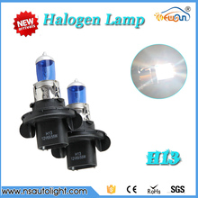9008 H13  60/55W 6500K Blue  Light Car Bulbs Headlight super white Halogen Lamp for universal use free shipping
