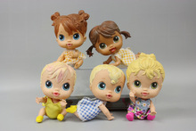 Original Wholesale Price 16cm -17cm Cute Baby Doll Girl Birthday Gift Lovely Doll 1pc Free Shipping