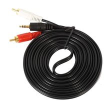 1.5m 3m 5m Mini 3.5mm Plug Jack to 2 RCA Male Music Stereo Audio Y Adaptor Cable Cord AUX for Mp3 iPod Phone TV Sound Speakers
