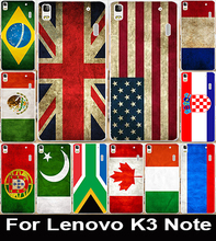 Brazil Spain Russia National Flag Phone Cases For Lenovo K3 Note Covers K50 A7000 Lemon K50-T5 Housing Soft TPU & Hard PC Shell
