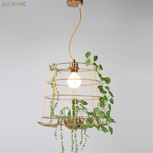 Jax Korean Modern Personality Creative Green Potted Plant Light Nordic Designer for Living Room Restaurant Bedroom Chandelier(China)