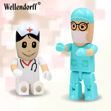 Wholesale Doctors USB stick nurses 64G memory stick Lovely pendrive cartoon usb flash drive 8G 16G 32G flash card freeshipping(China)