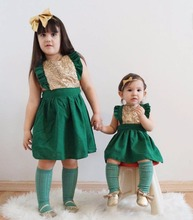100% Cotton Baby Girl Dresses 2017 Summer Sleeveless Kids Girl A-Line Pleated Dress Sexy Backless Toddler Infant Dress Green Red(China)