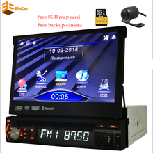 "7"" Single Din Car Stereo CD DVD Player Slip-Out Touchscreen Design Built-in GPS Navigation iPod In-dash Auto Radio Audio Stereo(China)"