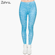Zohra Hot sale Fashion Mathematics 3D Full Printed Legging Punk Women's Stretchy Trousers Casual Pants Leggings(China)