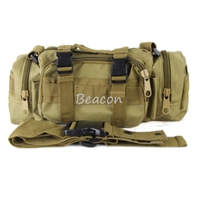 Free Shipping Tactical Molle Waist Bag Single Shoulder Bag Backpacking Utility Assault Pack Outdoor Hiking Hunting Camping 6L(China)