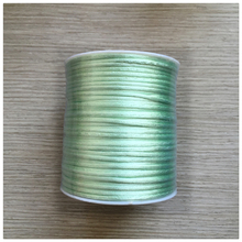 YUMUZ 2mm mint green Satin Nylon Cord Knotting cord Jewelery supplies For Necklace Jewelry Crafts 100 Yards
