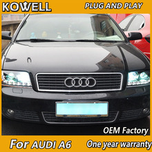 KOWELL Car Styling for Audi A6 LED Headlight 1997-2004 A6 Headlight Bi-Xenon Head Lamp LED DRL Car Lights(China)