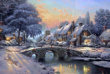 Needlework,DMC Cross stitch, Thomas Painting Winter Snow 14CT Unprinted Embroidery kits Arts Cross-Stitching,DIY Handmade Decor(China)