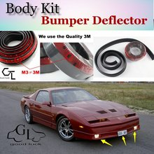 Bumper Lip Deflector Lips For Pontiac Firebird / Trans Am Front Spoiler Skirt For TopGear Friends Tuning View / Body Kit / Strip