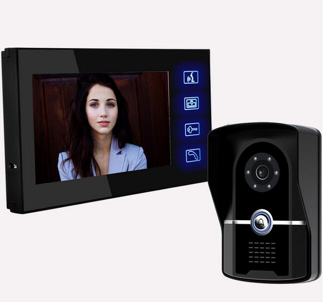 Freeshipping 7inch IR Night Vision Camera kit Video Door Intercom smart doorbell  Night Version Intercom System Video Intercom<br><br>Aliexpress