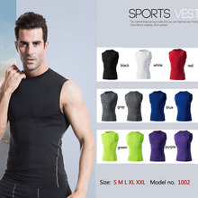 YD 2017 Logo Custom Quick Dry Running Vest Training Workout Tank Top Fitness Tights Gym Men Sport Suit Sleeveless Man's T-Shirt(China)