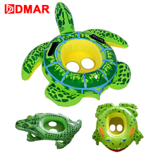 DMAR Inflatable Pool Float Green Frog Turtle Float Toys for Baby Kids Swimming Ring Swimming Circle Beach Sea Mattress Water