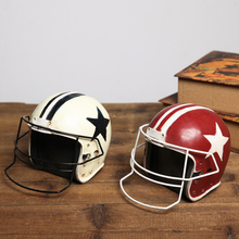 Retro American football cap Creative  furnishing articles Photo Props helmets Model furniture Windows decoration