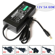 Led switching power supply AC/DC adapter 12V 5A 60W Table type with AC cable plug AU/EU/UK/US