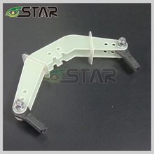 Six star plug type rudder plug type rocker arm Rocker arm group D3 * 1.5 * 17.5 * 15 * L90mm for 50-100cc gas model
