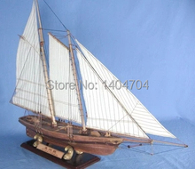 NIDALE model Scale 1/66 Americas Cup Classic wood sailboat model AMERICA Champion ship assemble model