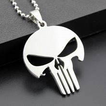 2017 New Fashion Titanium Chain Pendant Necklaces Wholesale Stainless Steel Men Skull Necklaces --10Pcs