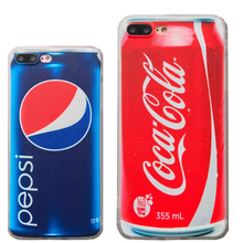 Funny Cola Carbonated Drink Sodas Bottle Cup Cans Fashion Red Blue Phone Case Cover for iPhone 5 5S SE 6 7 6S Plus Cute Bag Boy