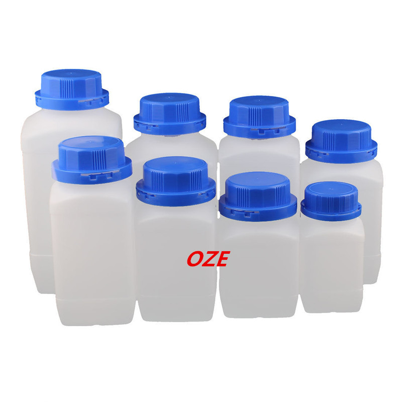 Set 250-1500ml Plastic Wide Mouth Chemical Sample Reagent Bottle Thickening<br>