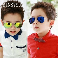 Mercury coating Kids Sunglasses Dual Beam Children Baby Boys Girls UV400 Protection Sun Glasses Personas Goggle Sunglasses(China)