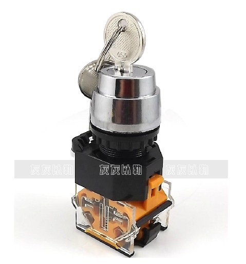 LAY37  3 gears Key switch One on one off 22MM<br>