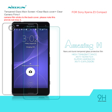 Nillkin Tempered Glass Film for Sony Xperia Z3 mini Z3 Compact Amazing H Nano Anti-Explosion 9H hard Protective Screen Protector(China)