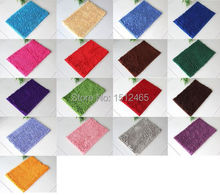 Free shipping,Washable Bedroom Floor Shaggy Rugs Non Slip Bath Pad Thick Shag Pile Mat 40*60cm DD01