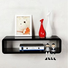 50x15x27cm & Black Floating Wall Mount Shelf Cube Sky Box DVD HIFI Unit Shelf 3color(China)