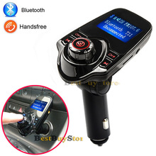 T11 Super Hot Sale Bluetooth Car Kit Handsfree Set MP3 Player FM Transmitter, Support Micro SD Card & U disk