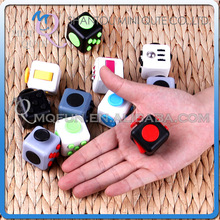 Mini Qute Fidget Cube 10 Colours Desk Finger Toy Squeeze Fun Magic Cubes Anti Stress release Reliever Puzzle Magic Cube With Box