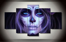 Free shipping Day of the Dead Face Group Painting room decor print poster picture canvas decoration Framed Printed Art F/1231