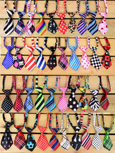 100pcs Pet Dog Neckties Adjustable Cat Dog Ties Bowties Ties Pet Grooming Supplies Pet Shop Dog Accessories Mix 40 colours(China)