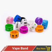 10pcs/lot Vape Band Decoration Protect Ring 12mm Silicon Rubber Band for Vape RDA RTA RDTA Atomizer