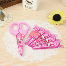 Hello kitty 6pcs Laciness Scissors Plastic DIY Scrapbooking Photo Scissors Paper Lace Diary Decoration with 6 Patterns  E0
