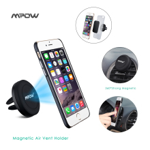 MCM8 Mpow Grip Magic Air Vent Magnet One Step Mounting Magnetic phone Stand Car Mount Phone Holder for iPhone 6 5S Andriod phone(China)