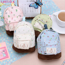 12*9cm Cute Canvas Sundries Storage Bag Linen  Backpack Style Money Storage newly-craft organizers Coin Purse Cosmetic Organizer