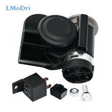LMoDri Vehicle 12V Super Loudly Air Horn Snail Compact Horns For Motorcycle Car Truck Boat RV Modification Parts(China)