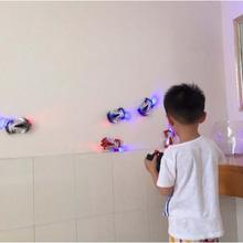 Remote Control Wall Climbing RC Car with LED Lights 360 Degree Rotating Stunt Toys Antigravity Machine Wall Racer(China)