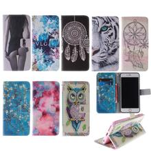 Flip Leather Phone Cover For Alcatel C9 pop Phone Case For Alcatel One Touch Pop C9 C 9 Dual OT 7047 7047D OT-7047D SJ0365 Bags(China)