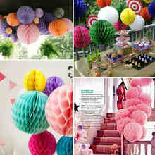 6 inch (15cm) Decorative Black White Tiffany Blue Flower Paper Lantern Honeycomb Ball Wedding Kid Birthday Decoration babyshower(China)