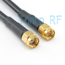 Freeshipping!  20INCH RP-SMA male plug to SMA male plug RF Pigtail jumper coaxial cable RG58 50CM Wholesale