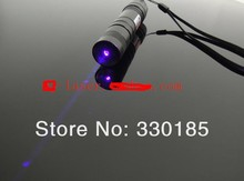 Wholesale Lazer Beam Military 1000mw 1w 405nm purple blue violet laser pointer focusable burn black match/cigarettes+Changer+Box
