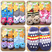 Buy 6 Pairs/lot Baby Cartoon Socks Rubber Slip-resistant Floor Socks Infant Socks 0-24M Children Cute Warm Short Bebe Winter Socks for $15.94 in AliExpress store