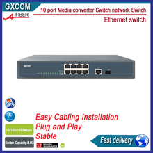 8 port 10/100M+1Giga TP+1 Giga SFP 10 port Media converter Switch network Switch Ethernet switch(China)